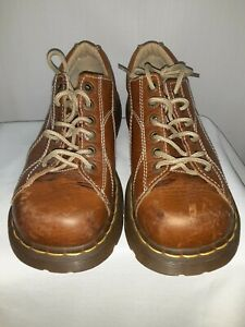 Dr. Martens AirWair Leather 12283 Women Size 8 Flower Design Chunky Shoe