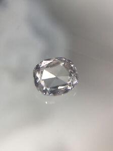 Blue Ring Size Faceted Diamond 6.8x7.1mm Blue Loose Emerald Cut Natural Diamond Rose Cut Cabochon 65/% SALE 2.3 CTW Blue Rose Cut Diamond