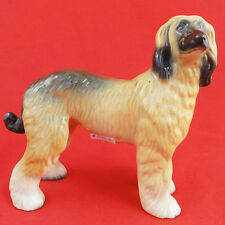 "AFGHAN Hound 7.25"" tall Porcelain Made England NEW NEVER SOLD Hand Painted"