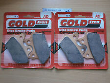 HARLEY FXDS-CON DYNA CONVERTIBLE # GOLDFREN FRONT BRAKE PADS (2xSets) 2000-2003