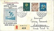 OLYMPICS: SKIING - FDC COVER: SWITZERLAND 1946 - NICE!