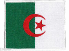 """Algeria (embroidered) Country Flag Patch 11.5cm X 9cm (4 1/2"""" X 3-1/2"""") approx"""
