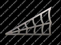 "SPIDER WEB -- 6"" X 3.75"" RH Metal Gusset Roll Cage Rat Hot Rod Chopper Frame"