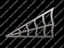 "Spider Web - 6"" X 3.75"" Rh Metal Gusset Roll Cage Rat Hot Rod Chopper Frame"