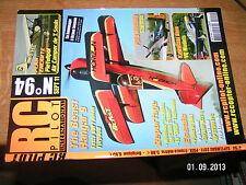 /;, RC Pilot n°94 Plan encarté Pietenpol Air Camper / P51D Mustang  Kawasaki Hie