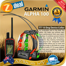 GARMIN ALPHA 100 DOG TRACKING BUNDLE  WITH 2 X TT10 TT15 COLLAR + SOFT FIELD BAG
