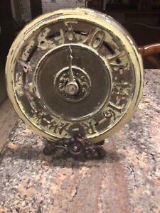Antique elevator floor indicator New York City 1920s cast iron and brass nice