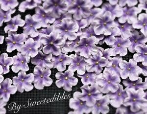 Gum Paste Flowers Blossoms Light Purple Sugar Edible Cakes and Cupcakes Fondant