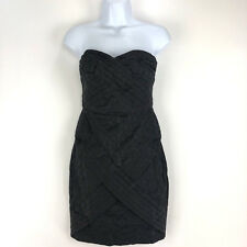 Jean Paul Gaultier For Target Strapless Dress Size 3 Black Texture Mini Pleated