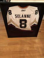 Reebok Pro Teemu Selanne Autographed Professional Framed Hockey Jersey W COA