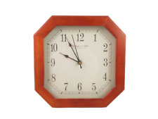 Sterling & Noble Clock Company Wood Octagon Brown Quartz Double AA Battery