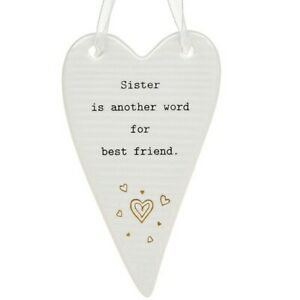 Thoughtful Words Plaque : Sister Is Another Word For Best Friend