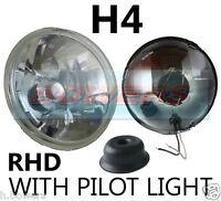 "7"" CRYSTAL CLASSIC CAR SEALED BEAM HEADLAMP HEADLIGHT HALOGEN H4 CONVERSION RDX"