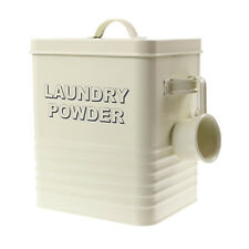 Home Metal Detergent Wash Laundry Powder Storage Box Container With Lid & Scoop