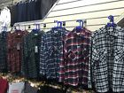 Mens Flannel Check Work Shirt Brushed Cotton Warm Lumberjack Check Shirts
