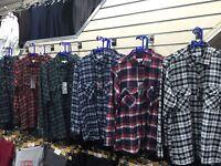 Mens Flannel Check Work Shirt Brushed Cotton Warm Lumberjack Check Shirts