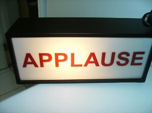 CFL Metal Lighted Box Applause Sign Pb teen Metal line switch 12x5x4 Studio Prop