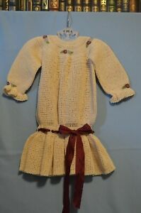 Custom Designed Antique Style Dress for Large Bisque Head or Composition Doll