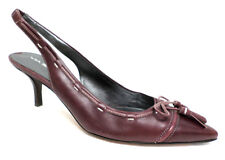 VIA SPIGA Size 8.5 Bugundy Slingback Leather Heels Pumps Shoes 8 1/2
