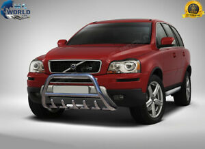 FITS TO VOLVO XC90 BULL BAR CHROME AXLE NUDGE PUSH A-BAR 60mm 2002-2014 OFFER