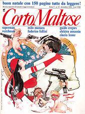 CORTO MALTESE rivista anno 7 n. 12(dicembre 1989) in allegato SUPERMAN/ WATCHMEN