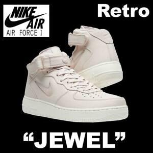 "NIKE AIR FORCE 1 MID RETRO PRM ""JEWEL"" PREMIUM LIFESTYLE SILT 941913-600 12"