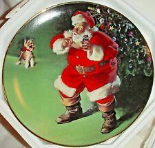 "Franklin Mint 1995 Coca Cola Santa ""A Merry Christmas Calls For Coke"" Plate 8"""