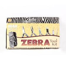 BeadSmith® Zebra Line 6 Piece Tool Kit with Pliers Tweezers Reamer Zipper Pouch