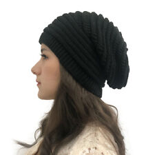 Crochet Knitted Slouchy Beanie Winter Warm Loose Thick Wool Ski Beret Hat Cap