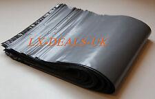 "100 x Grey poly postal packaging mailing bags 9x12"" 9 x 12 peal & SEAL sacks uk"