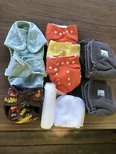 Cloth diapers lot, pockets Diaper Covers with inserts, Snaps, Best Bottom.