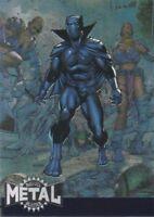 2015 Marvel Fleer Retro 1995 Marvel Metal Blaster Insert Card #2 Black Panther