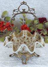 Schale Dekoschale Porzellan Prunkschale Obstschale Gebäckschale Bronze Korb Deko