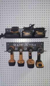 Hornbuilt Cordless Tool Storage Rack / Battery Tray Drill,