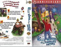 Willy Wonka and The Chocolate Factory VHS 1996 25th Anniversary Gene Wilder
