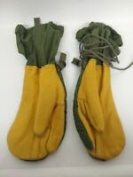 Used U.S Military Surplus Leather Mitten Shells Size Med W/Liner