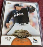 "Jose Fernandez 2013 Topps ""Making Their Mark"" Card #MM-43, Miami Marlins"