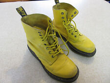 Women's DR MARTENS 'AirWair' Size 6 US High Top Leather Boots Mustard ExCon