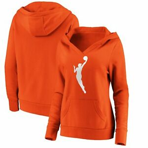WNBA Fanatics Branded Women's Primary Logo Pullover Hoodie - Orange