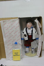 "12"" Danbury Mint Porcelain Doll of Betty by Judy Belle -Betty for President -New"