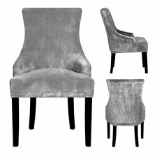 New Real Velvet Fabric Sloping Arm King Back Chair Covers Seat Hotel Party Event