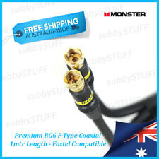 Monster Cable - Premium Gold RG6 F-Type Coaxial Cable - 1.0mtr 3.3ft - Foxtel