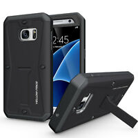 Black 360 Full Protection Armor Tank Case For Samsung Galaxy S6 S7 edge Note 4 5