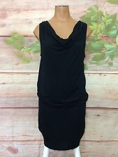 Old Navy Sleeveless Black Blouson XS Draped Neckline Dress X-Small Tunic