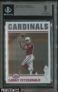 2004 Topps Chrome #215 Larry Fitzgerald Cardinals RC Rookie BGS 9 MINT