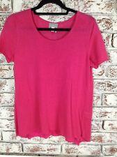 Ladies Ghost Fushia Pink Linen Knit Jumper. Size M. Ex Cond