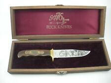 VINTAGE BUCK SPIRIT OF 76  FIXED BLADE KNIFE NEVER USED