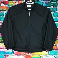 Vintage Tehama Nancy Haley Jacket Black Polyester Shell Zip Women's Size Large