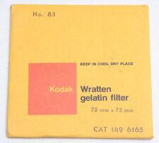 "Kodak 85 Wratten Gelatin Filter - 75mm x 75mm 3x3"" Square 1496165Old SEALED"