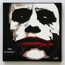 Joker smile canvas quotes wall decals photo painting framed pop art poster